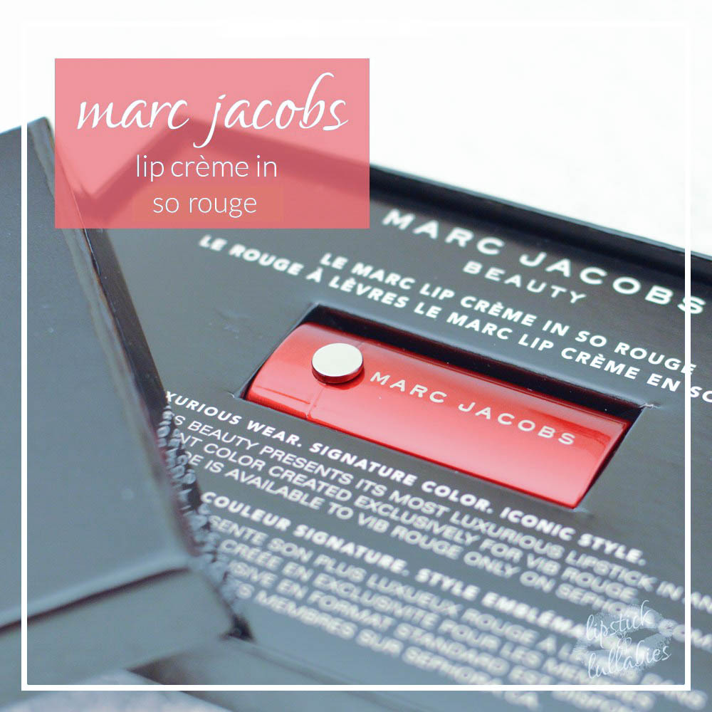 marc Jacobs lip crème in so rouge