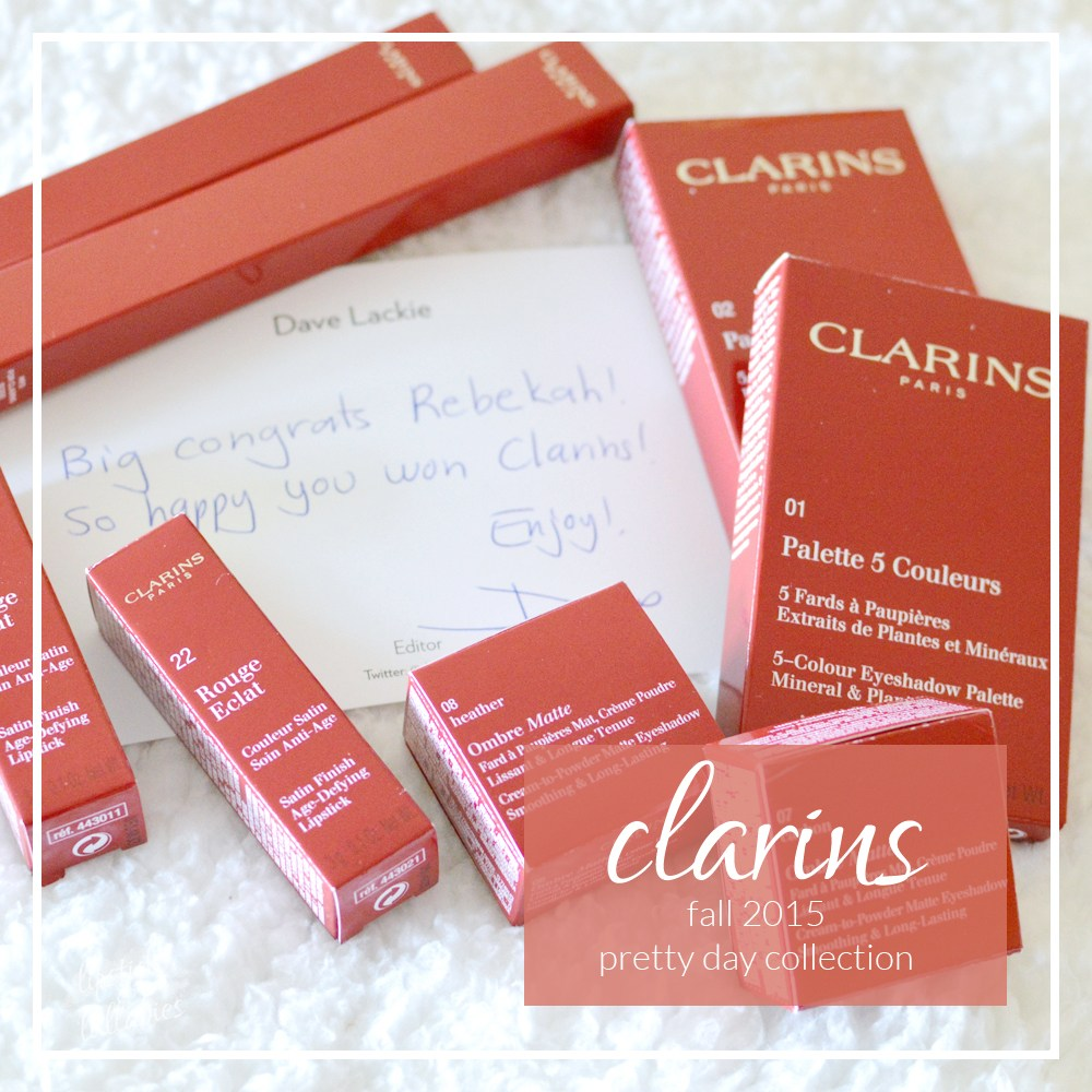 clarins fall 2015 pretty day collection