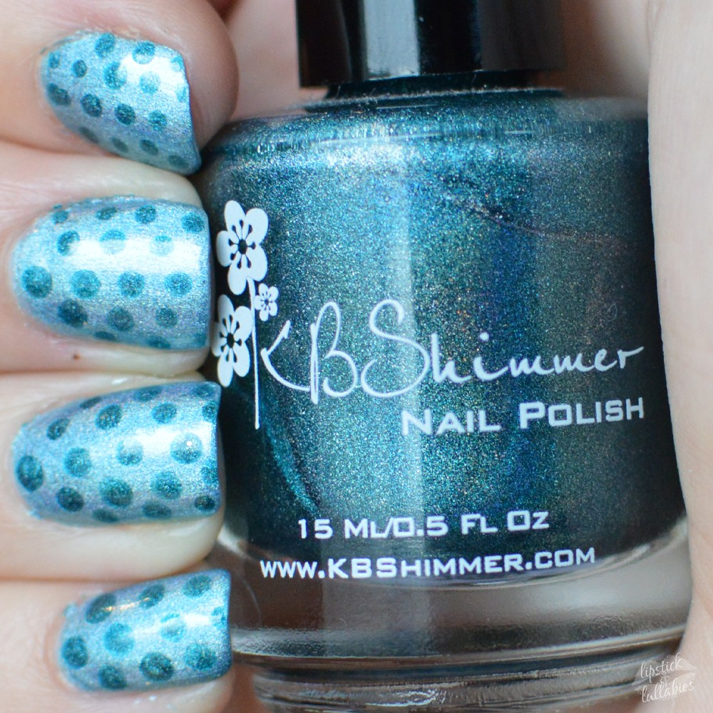 #manimonday - KBShimmer Blue-d Lines & Up and Cunning