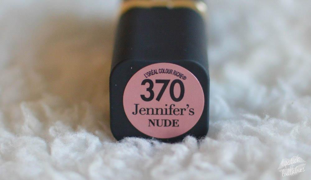 l'oreal colour riche 370 jennifer's nude