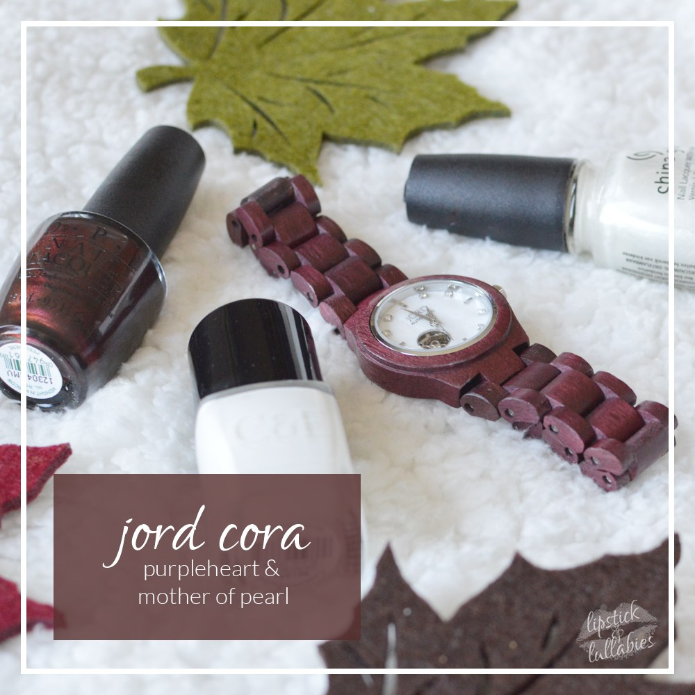jord cora purpleheart & mother of pearl mani monday