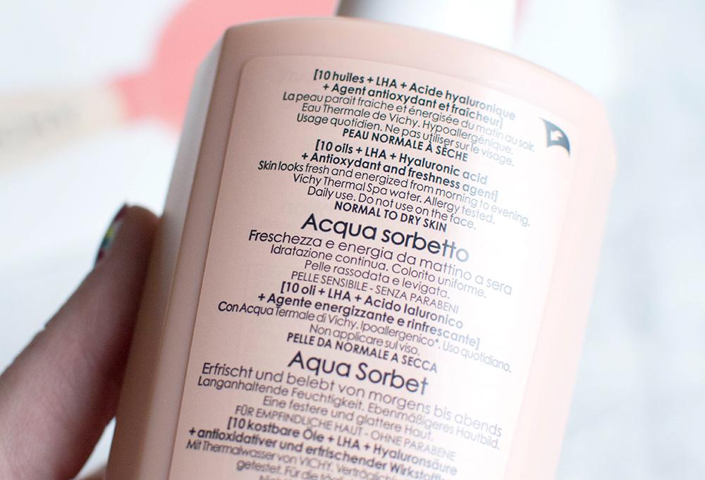vichy ideal body aqua sorbet
