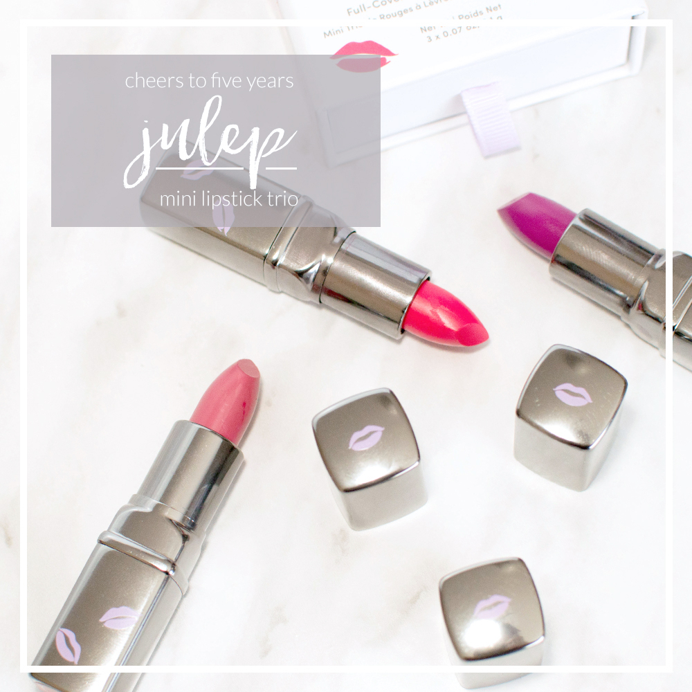 julep cheers to 5 years mini lipstick trio
