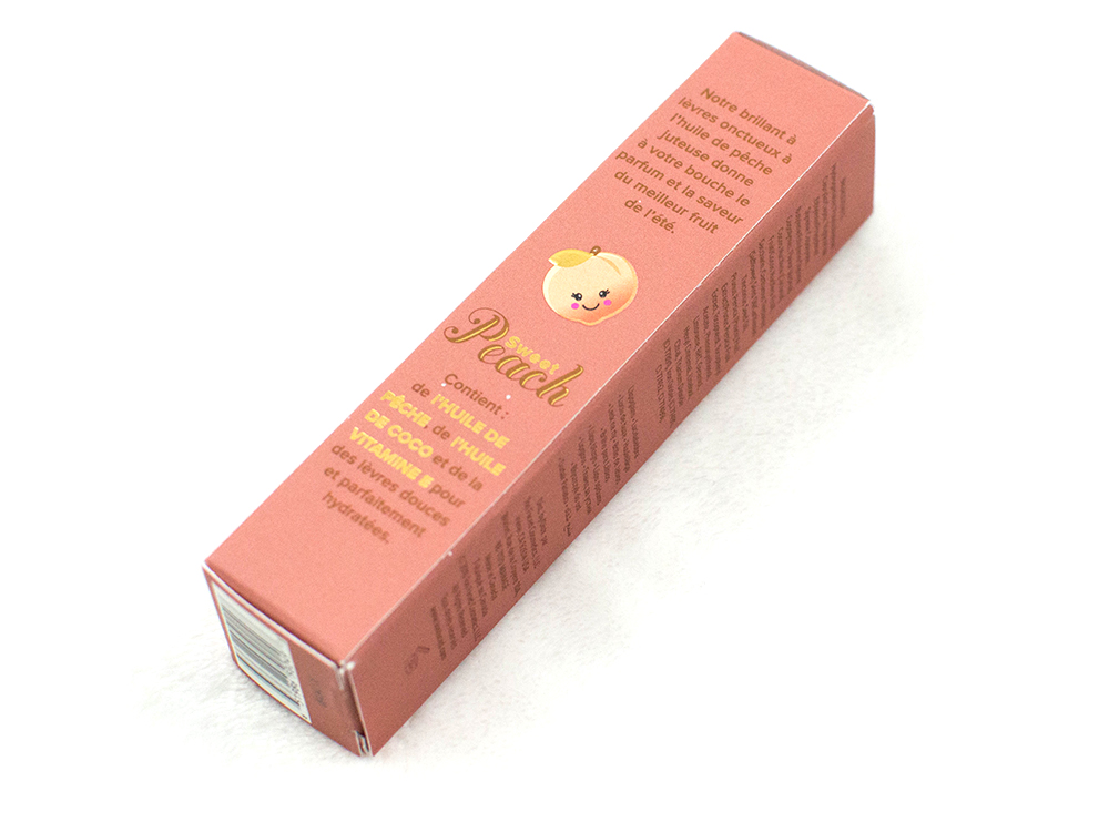 too faced creamy peach oil lip gloss in papa don't peach