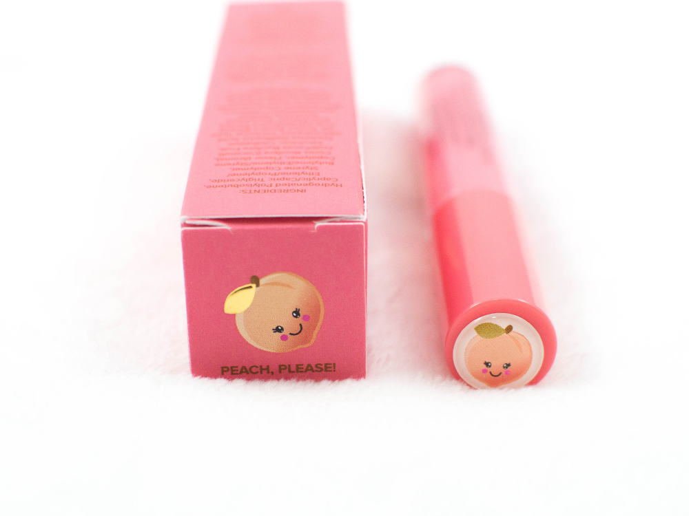 too faced creamy peach oil lip gloss in peach please