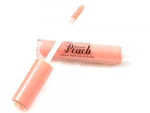 too faced creamy peach lip oil in peach-sicle