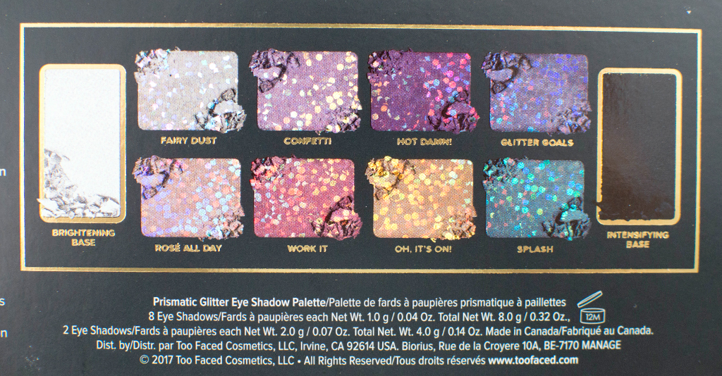 Too Faced Glitter Bomb Swatches